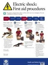 Electric Shock First Aid Poster