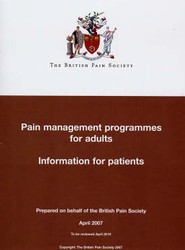 Pain Management Programmes for Adults