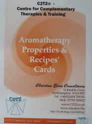 Aromatherapy Properties and Recipe Cards