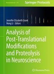Analysis of Post-Translational Modifications and Proteolysis in Neuroscience