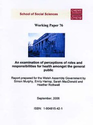 An Examination of Perceptions of Roles and Responsibilities for Health Amongst the General Public
