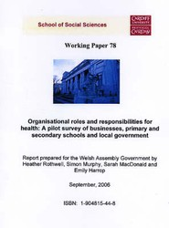 Organisational Roles and Responsibilities for Health - A Pilot Survey of Businesses, Primary and Secondary Schools and Local Governments