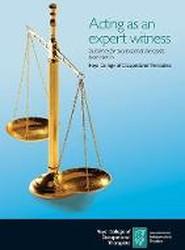 Acting as an expert witness