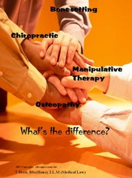 Bonesetting, Chiropractic, Manipulative Therapy and Osteopathy - What's the Difference?