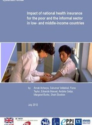 Impact of National Health Insurance for the Poor and the Informal Sector in Low- and Middle-Income Countries