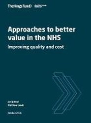 Approahces to value in the NHS