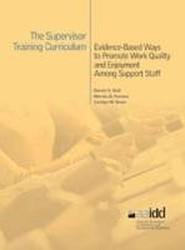The Supervisor Training Curriculum for Developmental Disability Organizations