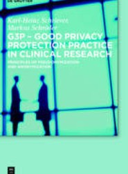 G3P - Good Privacy Protection Practice in Clinical Research