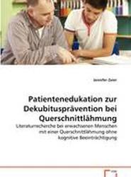 Patientenedukation Zur Dekubituspravention Bei Querschnittlahmung