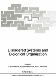 Disordered Systems and Biological Organization