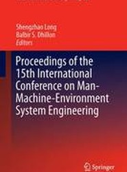 Proceedings of the 15th International Conference on Man–Machine–Environment System Engineering