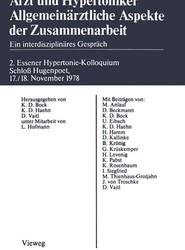 Arzt Und Hypertoniker Allgemeinarztliche Aspekte Der Zusammenarbeit