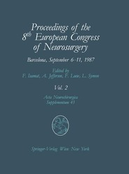 Proceedings of the 8th European Congress of Neurosurgery, Barcelona, September 6–11, 1987