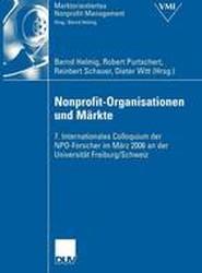 Nonprofit-Organisationen Und Markte
