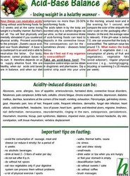 Acid-base Balance - Losing Weight in a Healthy Manner - Medical Card