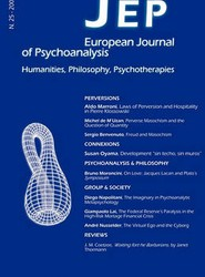 JEP European Journal of Psychoanalysis 25