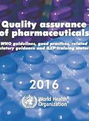 Quality Assurance of Pharmaceuticals 2016
