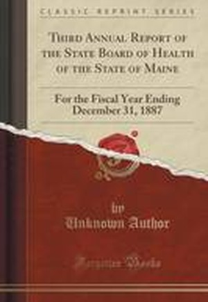 Third Annual Report of the State Board of Health of the State of Maine