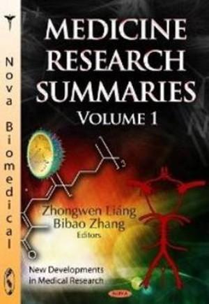Medicine Research Summaries: Volume 1