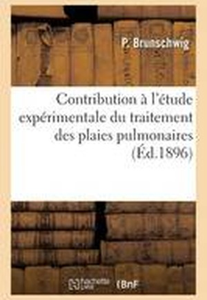 Contribution A L'Etude Experimentale Du Traitement Des Plaies Pulmonaires