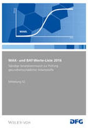 MAK und BAT-Werte-Liste 2016