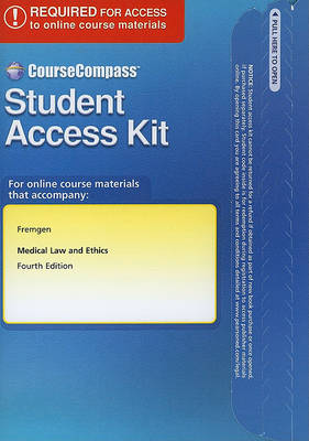 CourseCompass Access Code Card for Medical Law and Ethics