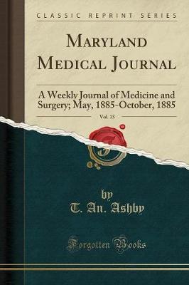 Maryland Medical Journal, Vol. 13
