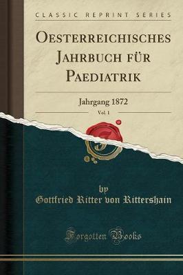 Oesterreichisches Jahrbuch F r Paediatrik, Vol. 1