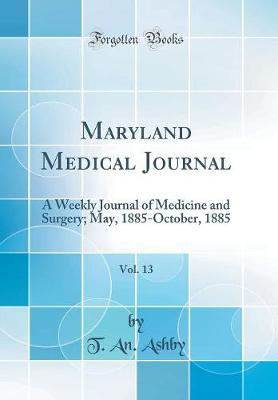 Maryland Medical Journal, Vol. 13