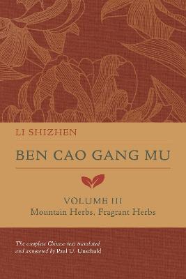 Ben Cao Gang Mu, Volume III