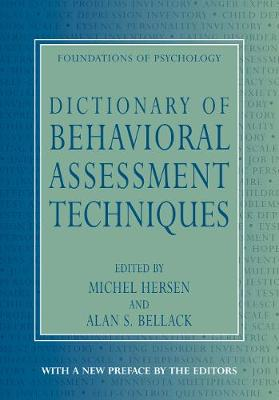 Dictionary of Behavioral Assessment Techniques