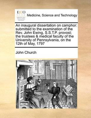 An Inaugural Dissertation on Camphor