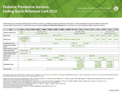 Pediatric Preventive Services