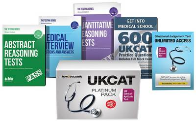 UK Clinical Aptitude Test (UKCAT) Platinum Package Box Set: Situational Judgement Tests, Abstract Reasoning Tests, Quantitative Analysis, Get into Medical School Guide, Medical Interview Questions: 1