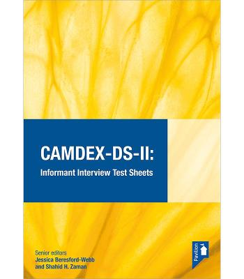 CAMDEX-DS-II: The Cambridge Examination for Mental Disorders of Older People with Down Syndrome and Others with Intellectual Disabilities. (Version II) Informant interview test sheets