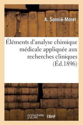 l ments d'Analyse Chimique M dicale Appliqu e Aux Recherches Cliniques