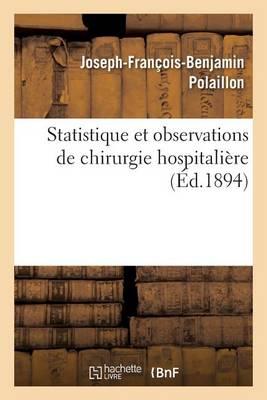 Statistique Et Observations de Chirurgie Hospitali re
