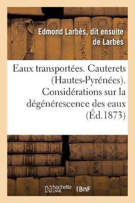 Eaux Transport es. Cauterets Hautes-Pyr n es.