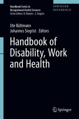 Handbook of Disability, Work and Health