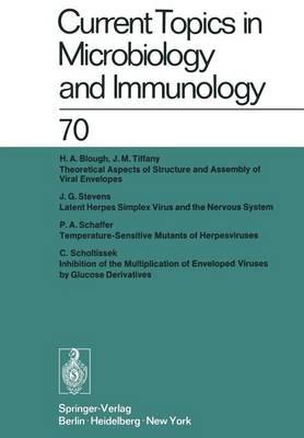 Current Topics in Microbiology and Immunology / Ergebnisse der Mikrobiologie und Immunitätsforschung