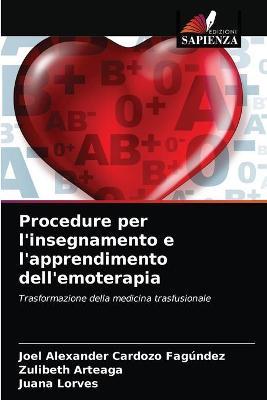 Procedure per l'insegnamento e l'apprendimento dell'emoterapia
